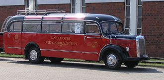 Mercedes-Benz buses - The Mercedes-Benz O 3500 touring coach based on the L 3500 truck