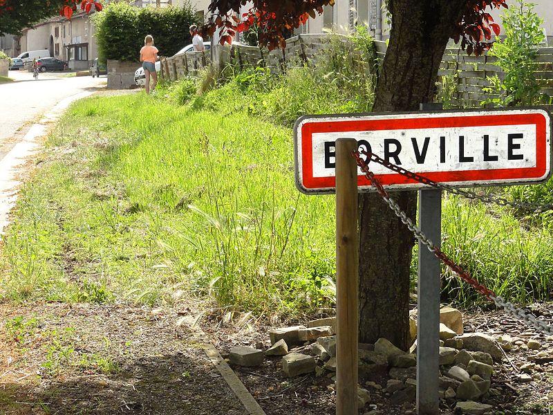 Borville (M-et-M) city limit sign