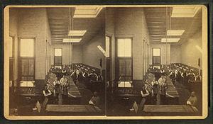 Boston Herald composing room, from Robert N. D...