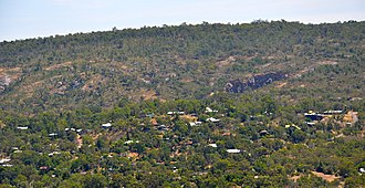 Boya, Western Australia - Boya from the south, Mountain Quarry and Greenmount Hill behind