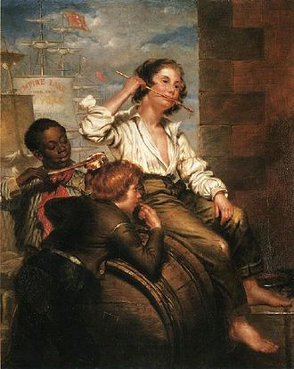 Sweetness - Boys Pilfering Molasses – On The Quays, New Orleans, 1853 painting by George Henry Hall
