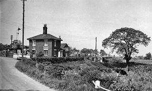 Brampton (Suffolk) railway station - The station in 1963