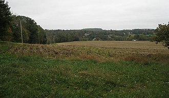 Philippe Hubert Preudhomme de Borre - This view from the British position on Osborne's Hill looks southeast. From (photo) left to right, the American divisions of Stephen, Stirling, and Sullivan opposed Howe's troops.