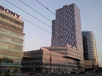 Economy of Slovakia - Central business district in Bratislava, Mlynské Nivy