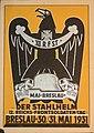 Breslau 12. Reichs Frontsoldaten Tag 1931 Der Stahlhelm, B.D.F. Bundesamt Propaganda-Abteilung Graphische Werkst. C. Paul Stein Berlin GV Adler Postkarte Ansichtskarte Postcard Germany No known copyright restrictions.jpg