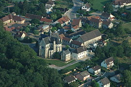 An aerial view of Bressolles