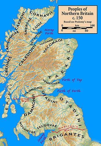Caledonians - Peoples of Northern Britain according to Ptolemy's 2nd-century Geography
