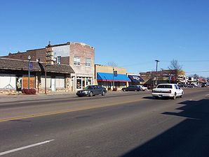 Broadway in West Memphis (Blick nach Osten, Januar 2008)