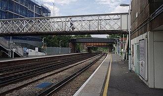 Brockley railway station - Image: Brockley railway station MMB 02