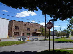 Brockport, New York - The old Brockport Cold Storage Co. Building on the corner of Oxford and Spring Streets.
