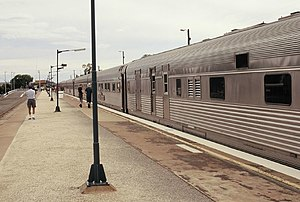 The Ghan at the Broken Hill railway station.