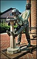 Bronze sculpture at Beaufort County Library in Beaufort, South Carolina.jpg