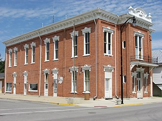 National Register of Historic Places listings in Darke County, Ohio - Image: Brown Township Building, Ansonia