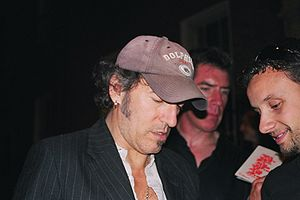 The Rising Tour - Springsteen greeting fans around the time of his May 31, 2003 show at Dublin's RDS Arena.