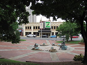 Buckhead - Charlie Loudermilk Park and the Buckhead Theater in Buckhead Village