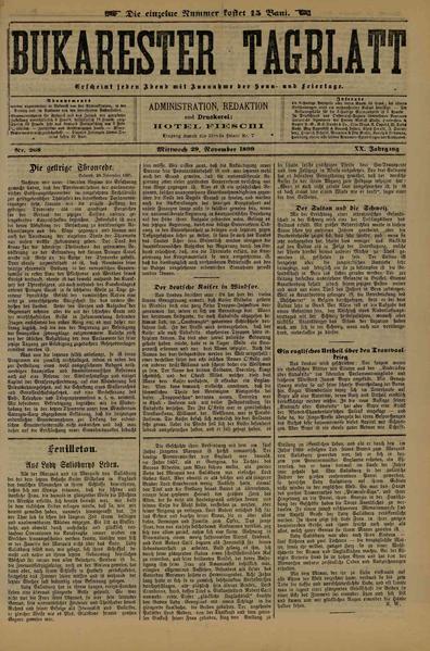 File:Bukarester Tagblatt 1899-11-29, nr. 268.pdf