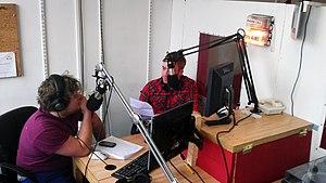 Burst Radio - Burst presenters in the studio, March 2012