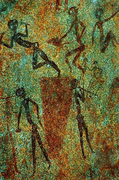 Archivo:Bushmen Rock Painting.jpg