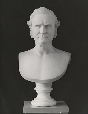 Chauncey A. Goodrich - Marble bust of Chauncey Allen Goodrich, by Chauncey Ives, 1873. Yale University Art Gallery