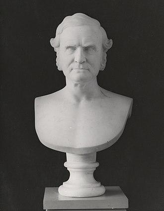 Chauncey A. Goodrich - Marble bust of Chauncey Allen Goodrich, by Chauncey Ives, 1873. Yale University Art Gallery