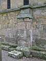 Bywell St. Peter - buttress on the east wall of the chancel - geograph.org.uk - 1570661.jpg