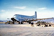 C-124A unloading during Korean War