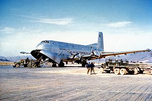 Douglas C-124 Globemaster II - An early C-124A during the Korean War.