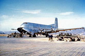Douglas C-124 Globemaster II - An early C-124A during the Korean War.