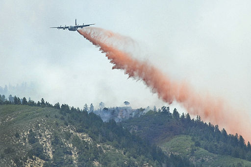 C-130 drops retardant on a section of the Waldo Canyon fire