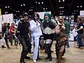 C2E2 (Day 2) 2014, Catwoman, Two-Face, Joker, and Bane.jpg
