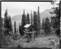 CACHE, LOOKING SOUTHEAST (4' x 5' negative) - Pearson Cabin, near Toklat River, Cantwell, Denali Borough, AK HABS AK,23-MCKIN,3-6.tif