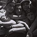 """CHILDREN, HOLOCAUST SURVIVORS, ON BOARD THE REFUGEE SHIP """"MATAROA"""" IN THE HAIFA PORT. ילדים, ניצולי שואה, מגיעים לנמל חיפה על גביי אונייה בריטית.D820-066.jpg"""