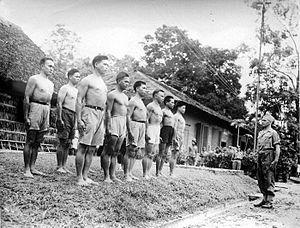 Republic of South Maluku - KNIL recruits being trained on Ambon.