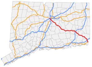 Connecticut Route 2 - Image: CT 2 map