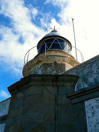 Cabo Prior Lighthouse - Detail of the tower from 2006