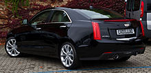 Cadillac ATS 2.0 Turbo AWD Premium – Heckansicht, 16. Oktober 2015, Düsseldorf.jpg
