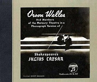 Columbia Masterworks Records - Mercury Theatre original cast recording for Caesar (Columbia Masterworks Records M-325, 1939)