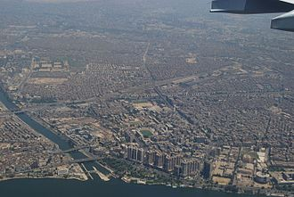 Cairo grew into a metropolitan area with a population of over 20 million Cairo north.JPG