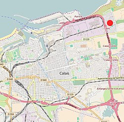 Location in the city of Calais