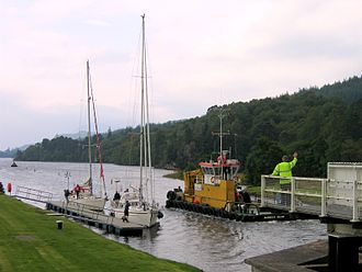 Caledonian Canal - Swing bridge over the Caledonian Canal