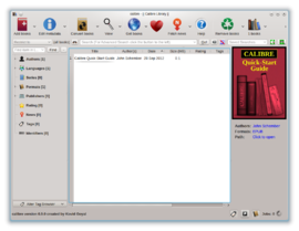 Screenshot di Calibre (software)