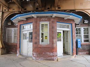 California station (CTA Blue Line) - Image: California CTA Blue Line Station