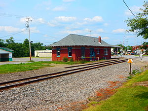 Cambridge Springs (Erie Railroad station) - The former Northwest Pennsylvania Railroad station in Cambridge Springs in July 2015