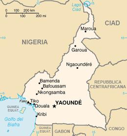 Camerun - Mappa