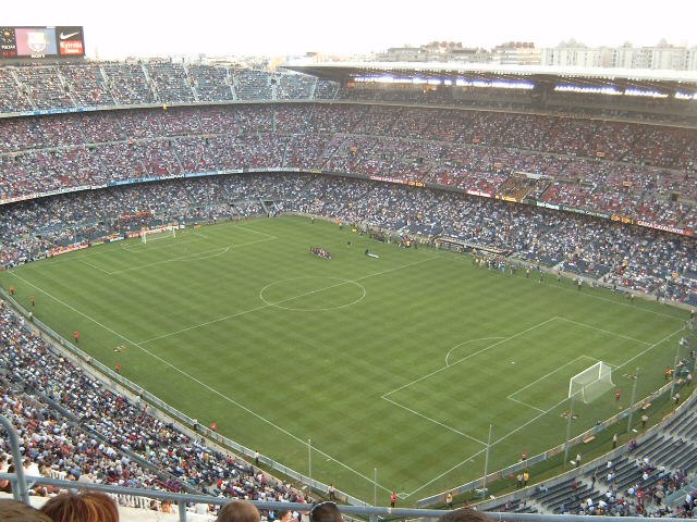 Camp Nou from highest stand