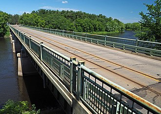National Register of Historic Places listings in Morrison County, Minnesota - Image: Camp Ripley Bridge