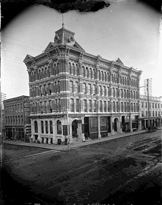 Scottish Ontario Chambers - Scottish Ontario Chambers (was Canadian Pacific Railway Office) around turn of the century. Bell block is on the left.
