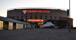 Das Canadian Tire Centre im September 2014