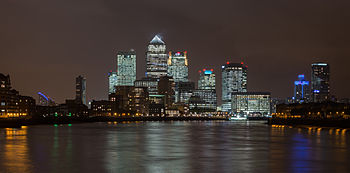 Canary Wharf Skyline 1, London UK - Oct 2012.jpg
