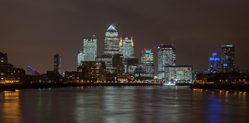 File:Canary Wharf Skyline 1, London UK - Oct 2012.jpg